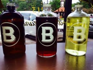 The Bishop Beer and Wine Growlers