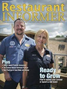 Restaurant INFORMER September 2015 issue cover